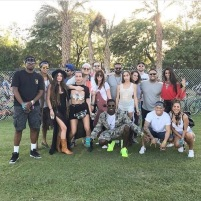 Lance Gross, wife, and friends at Coachella