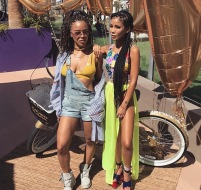 Serayah and Jhene Aiko at Coachella